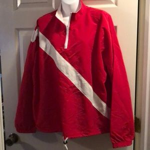 Red & white windbreaker jacket